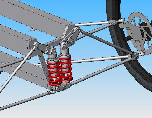 Rear Swing Arm and Front Suspension Design | Trike | Trike