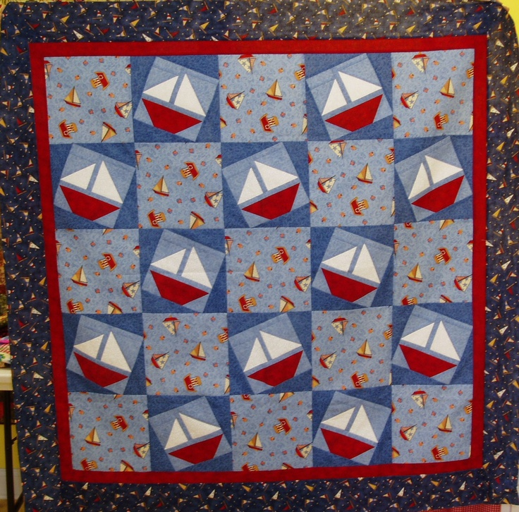 108 best Sailboat Quilt Ideas images on Pinterest Beach house, Boats and Boy nurseries