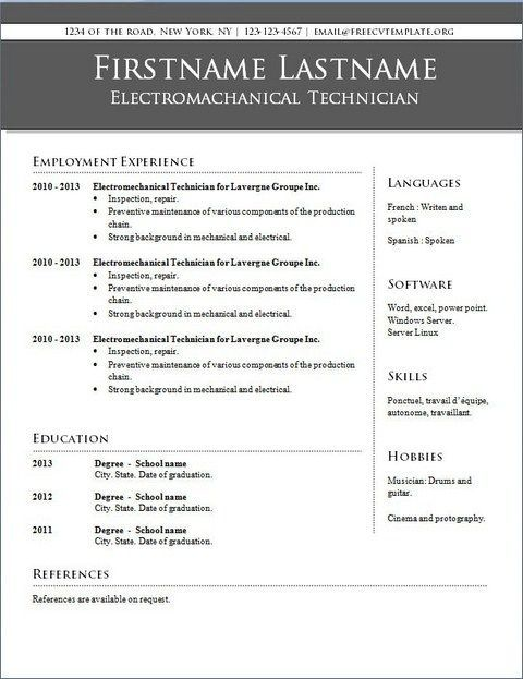 Create A Resume Free Template Resume Examples Office Resume