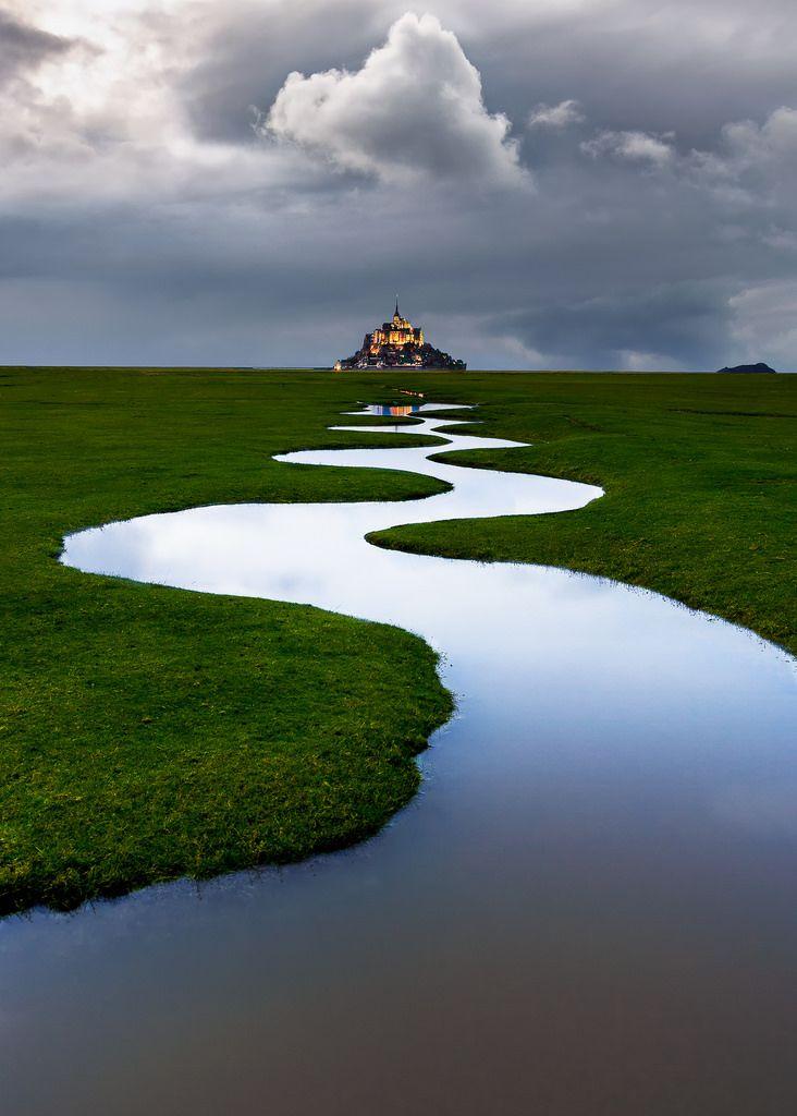 "wanderthewood: "" Mont Saint-Michel, Normandy, France by Lollivier Stéphane """