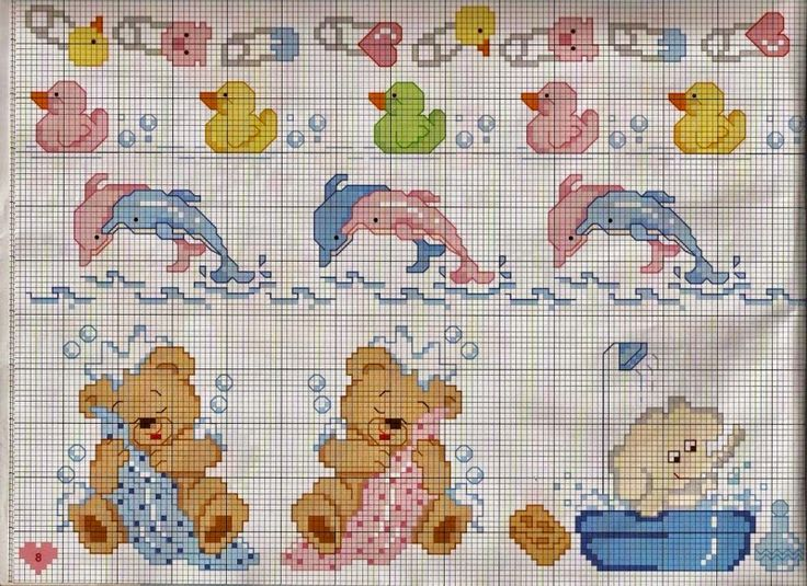 Pin by andrea montiy on cross stitch punto croce bambino for Schemi punto croce bagnetto bimbi