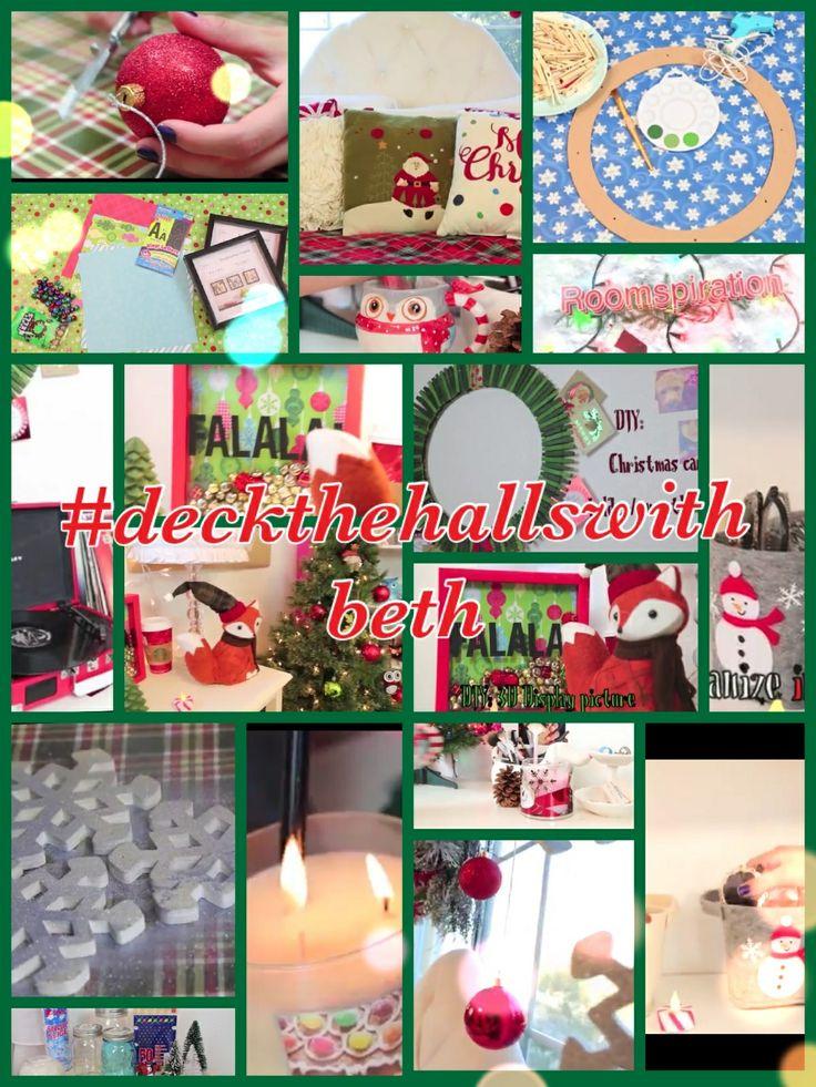 roomspiration video by Bethany Mota (aka Macbarbie07  ~ 120818_Diy Christmas Decorations Ideas Bethany Mota