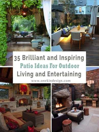 35 brilliant and inspiring patio ideas for outdoor living and rh pinterest com