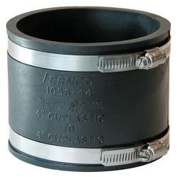 """4"""" x 4"""" Flexible Coupling (Cast Iron or PVC to Cast Iron or PVC)"""
