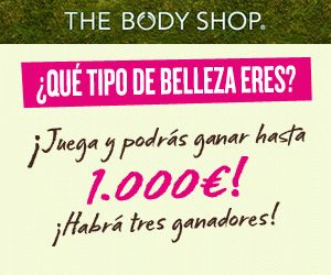 Sortean 1.000 euros en productos cosméticos The Body Shop. En total saldrán 3 ganadores que se repartirán el premio.  Promoción válida para España hasta 16/04/2014.  Más información aquí: http://www.baratuni.es/2014/01/sorteos-gratis-gana-1-000-euros-en-productos-the-body-shop.html  #sorteos #sorteosgratis #sorteosgratuitos #sorteosonline #sorteosgratisonline #thebodyshop #cosmeticos #cremas #belleza #baratuni