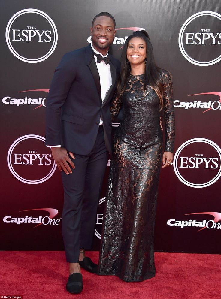 Beaming: She arrived with her husband Dwyane Wade, who recently signed a contract with the...