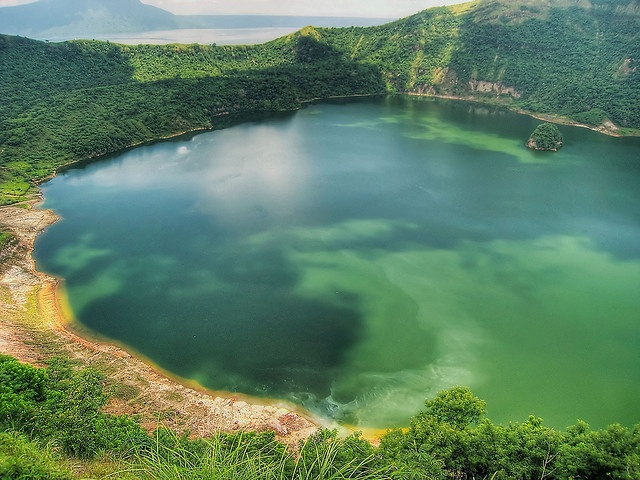 Lake in the crater of Taal volcano near Tagaytay, Philippines.  Crater Lake by b_macd, via Flickr