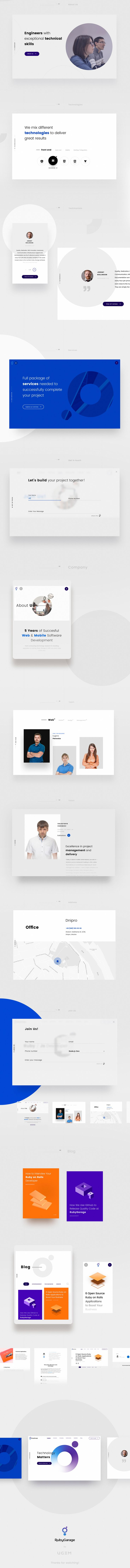 RubyGarage is a web development company specializing in Ruby and Ruby on Rails. After five years of work RubyGarage decided to implement rebranding and our design office has developed a new design concept. The new design concept includes total rebranding …
