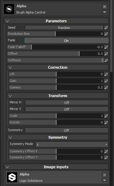 Brush Alpha Controller for Substance Painter