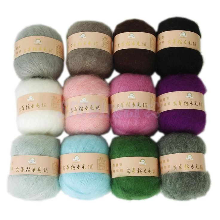Wholesale Skein Lot Angola Mohair Cashmere Wool Knitting Yarn Craft 12 Colors #Unbranded #HandDyed