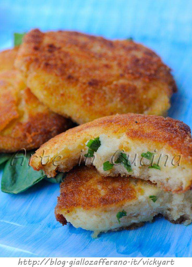 Potato pancakes with parsley and Parmesan vickyart art in the kitchen