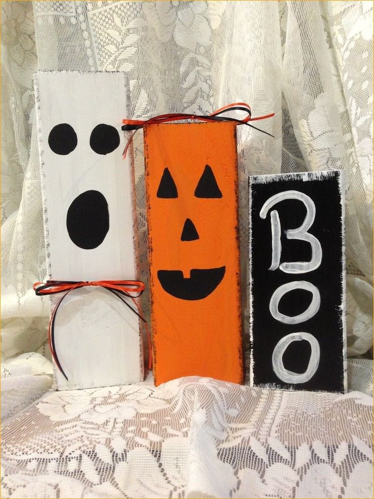 Awesome Easy Fall Wood Crafts 71 Halloween