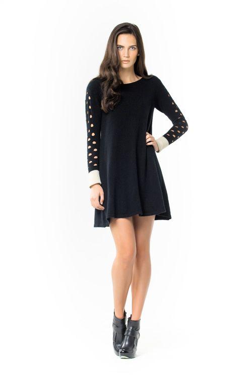 Katia Dress. Luxury limited edition Knitwear www.elkaknitwear.co.nz