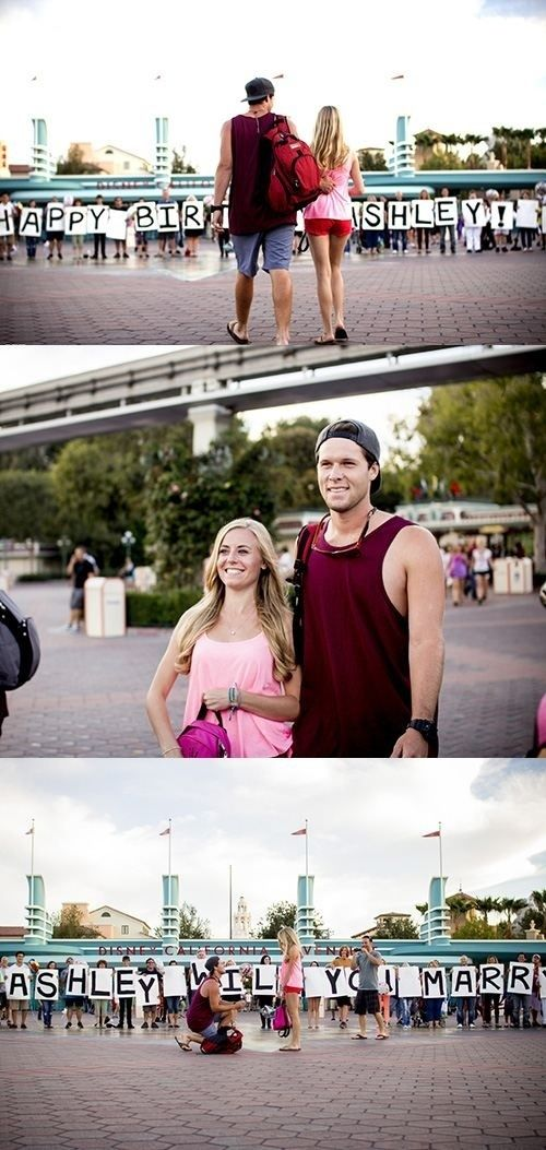 With a fake-out. | 33 Awesome Marriage Proposals You Couldn't Say No To -- THIS IS SO CUTE