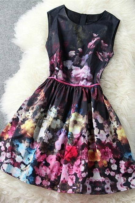 High-End Retro Sleeveless Vest Skirt