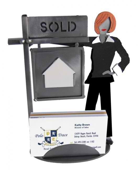 Interior Place - Female Real Estate Agent Business Card Holder, $44.90 (http://www.interiorplace.com/female-real-estate-agent-business-card-holder/)