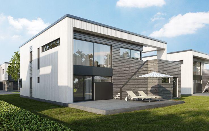 Kataloghus U- 580 funkisinspirert bolig på to plan!
