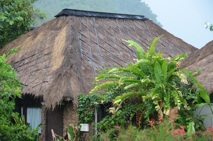 Вот в таких виллах мы жили на Бали