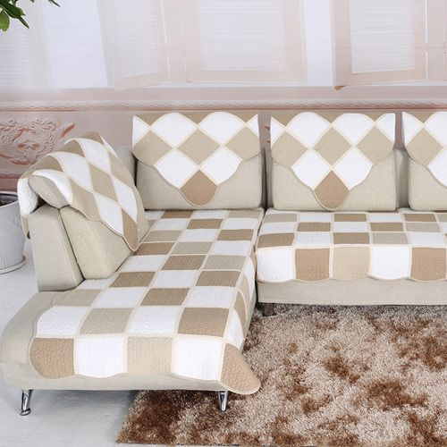 Charming Luxury Cotton Sofa Cloth Fabric Sectional Sofa Towel Sets Sofa Couch Covers  For Home Textile Corner Sofa Cover Slipcover