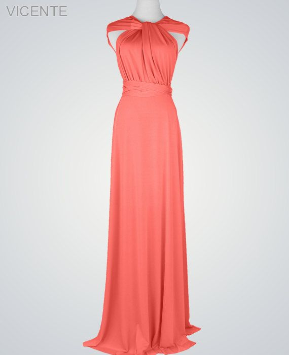 Best 25  Long coral bridesmaid dresses ideas on Pinterest | Long ...