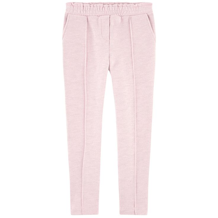 Heavy cotton fleece Comfortable item Straight leg fit Pleats on the legs Slant pockets Mock pockets Elastic waistband Mock fly Silver lurex Glittery effect Small logo patch on the heels - $ 64
