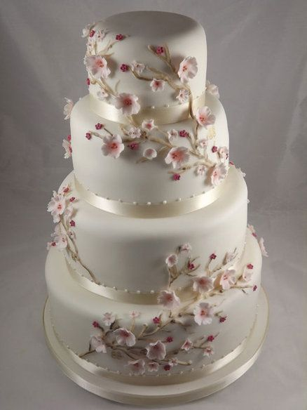 cakes using cherry blossom decorations | Cherry Blossom - by cakesbysamantha @ CakesDecor.com - cake decorating ...