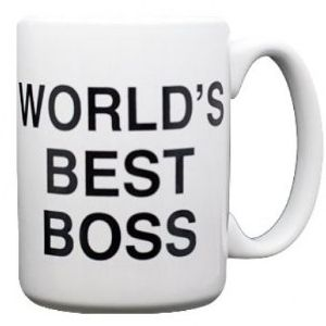 World's Best Boss Mug – #TheOffice #Gift      Get your Scranton on.. Dunder Mifflin (The Office) World's Best Boss TV Television Show Ceramic Boxed Gift Coffee (Tea, Cocoa) 11 Oz. Mug  $12.95