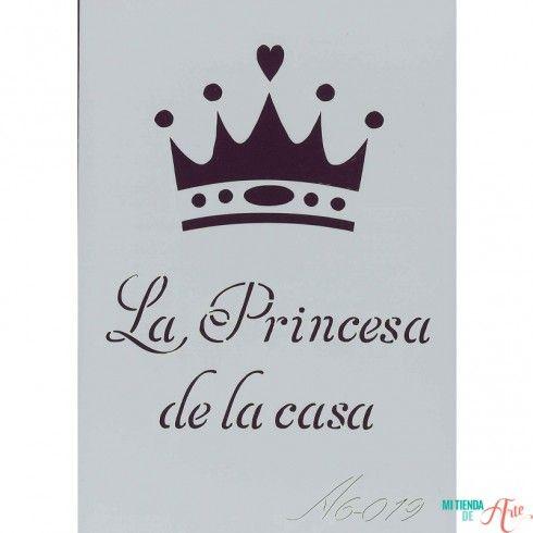 Plantilla de Stencil La Princesa de la casa (15x10,5cm) A6-019