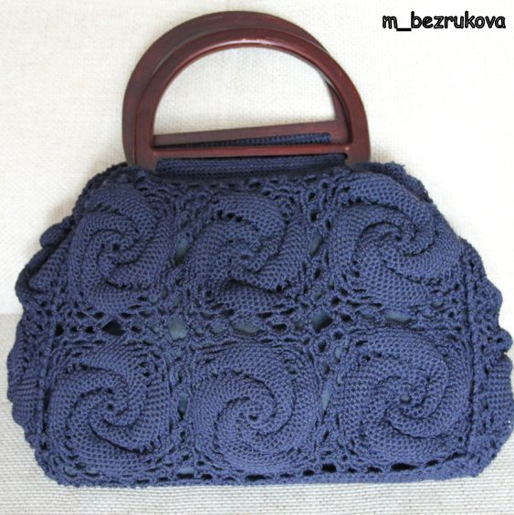 Crochet Bag Drawstring Pattern : Crochet bag - free diagram pattern here: http://wterritory ...