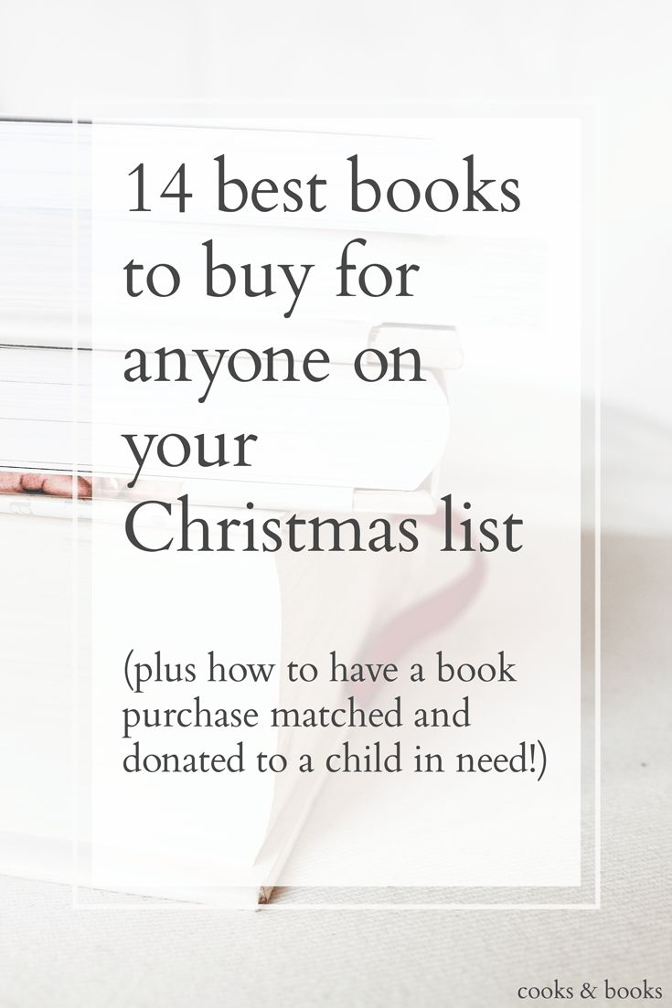 The 14 best books to buy as gifts for every person on your list, from the creative, to the writer, to the foodie, to the fashionista, to the geek! http://cooksplusbooks.com/2015/12/08/14-best-books-to-buy-for-anyone-on-your-christmas-list/