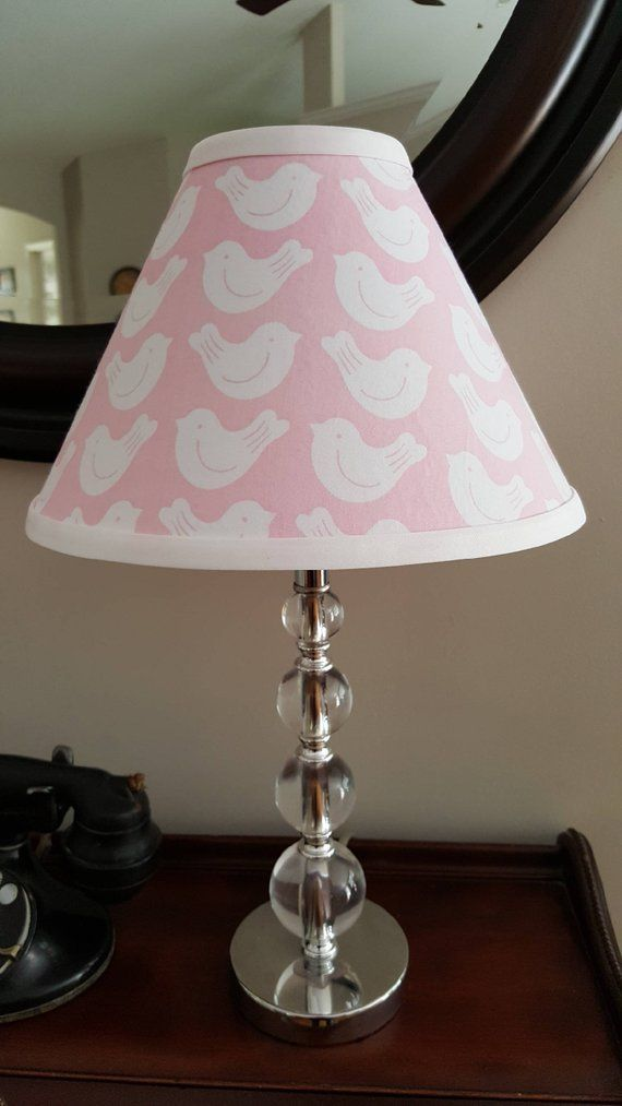 Pink And White Birds Lamp Shade