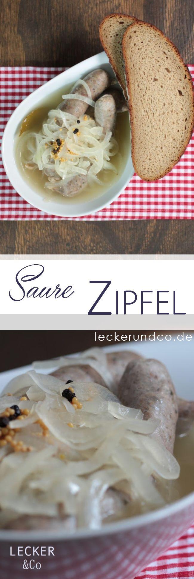 Saure Zipfel | Bratwurst in Essigsud mit Zwiebeln