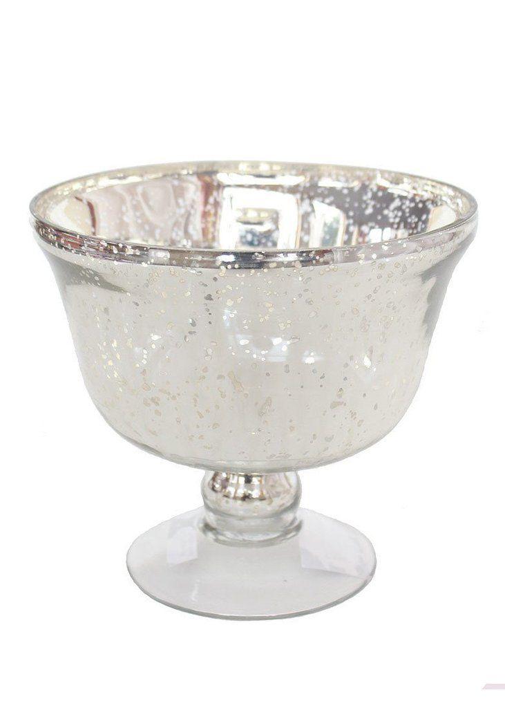 mercury glass pedestal vase in silver5 5 mercury glass wedding rh pinterest com