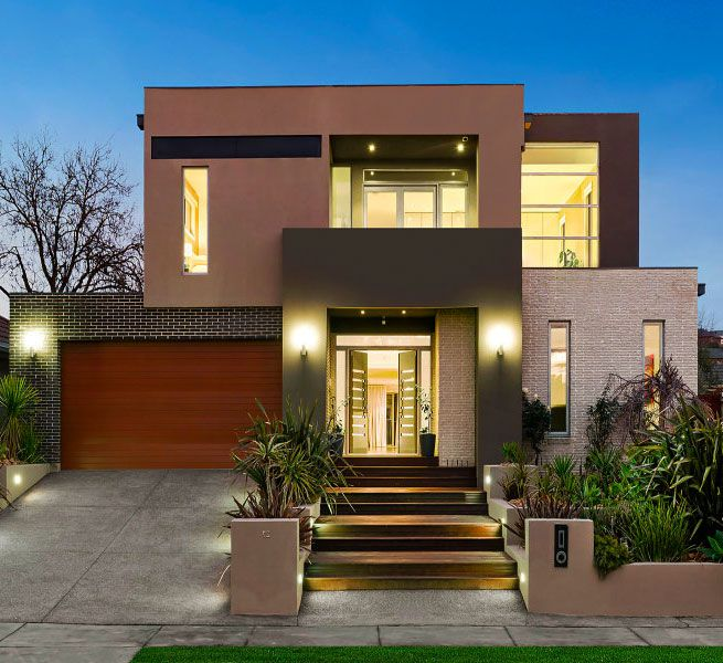 140 best contemporary houses images on pinterest modern for Exterieur villa moderne
