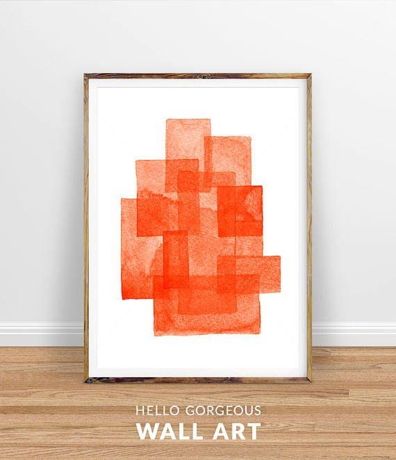 Orange Wall Art Orange Digital Print Orange Abstract