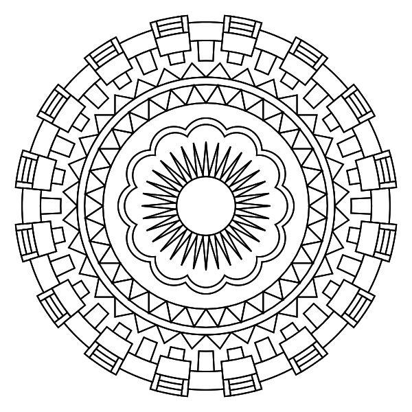 Mandala para imprimir 01 ⋆ La Guia de Mandalas