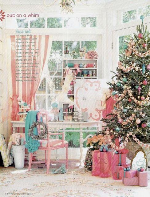 pink!!Holiday, Christmas Time, Christmas Colors, Pink Christmas, Shabby Chic Christmas, Pastel Christmas, Christmas Decor, Christmas Trees, Merry Christmas