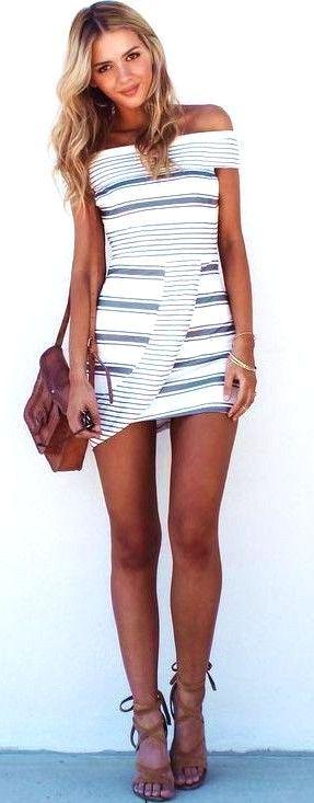 #summer #trending #fashion Nautical Stripe OTS Dress  - more on http://ift.tt/2rynWxj