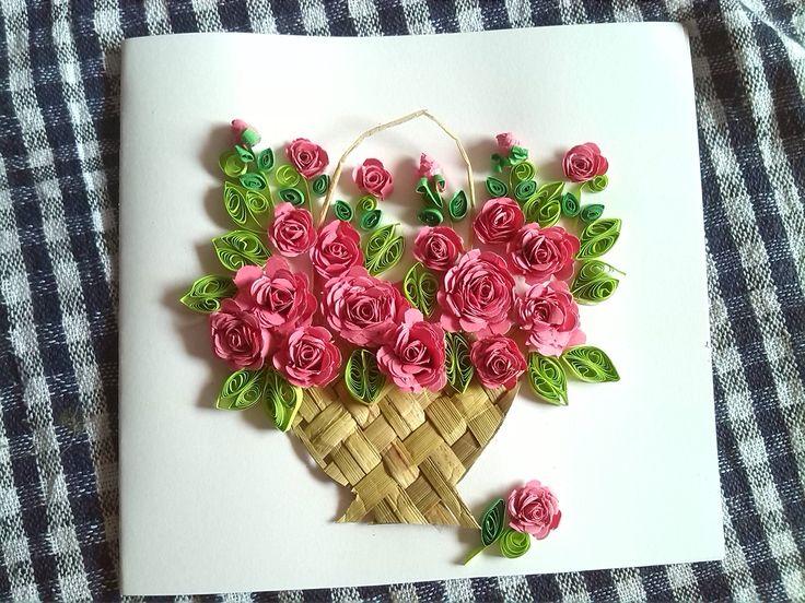 Paper Quilling Rose Flower Basket Lorey Toeriverstorytelling Org