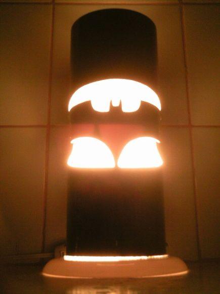 Luminária PVC Emblema Estilizado Batman