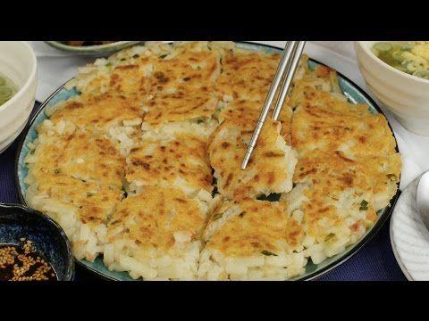 うどんチヂミ Udon Chijimi (pancake)  with How to video