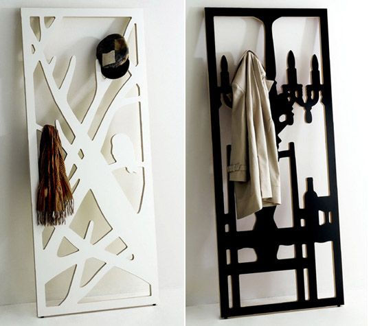 This is definitely worthy of displaying your hand knit scarves and shawls. - The Frame Hanger: A Coat Rack That Doubles as Art.  These are so pretty!