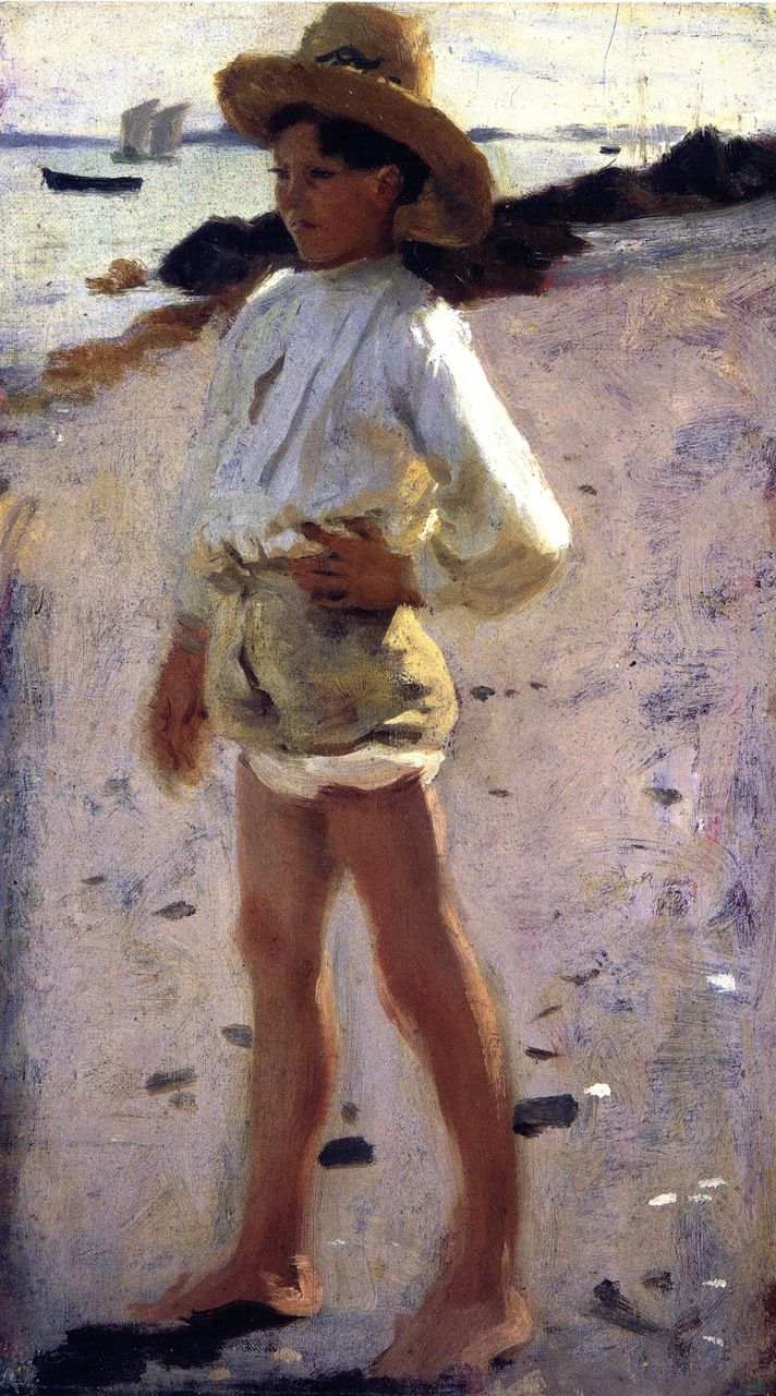 The Athenaeum - Study for 'Oyster Gatherers at Cancale' (John Singer Sargent - )
