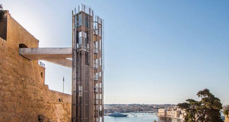 Barrakka Lift in Valletta, Malta by Architecture Project  #architecture #lifestyle #buildingdesign #conceptdesign #lifestylephotography #building #modern #contemporary #amazingarchitecture #instaarchitecture #instamood #archimodel #archilovers #archdaily #port  #building  #architects #nature #beautiful #instagood #picoftheday  #lift #malta #elevator #bayarea