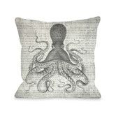 Found it at Wayfair - Vintage Octopus Polyester Throw Pillow