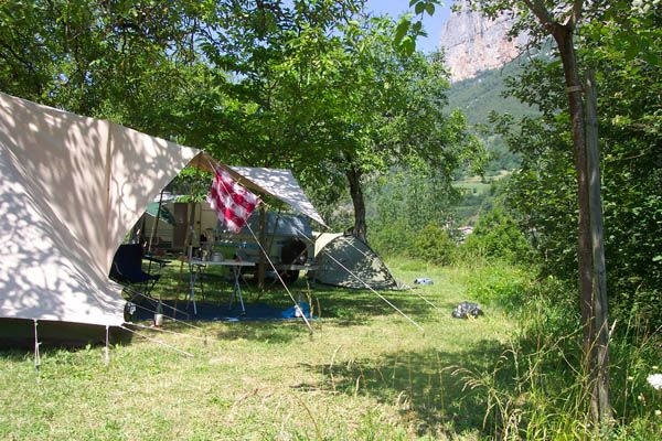 2012: camping in Choranche, Vercors, Frankrijk
