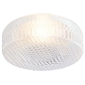 Lights By B&Q Zibo 1 Lamp Metal & Glass Ceiling Light: Image 1