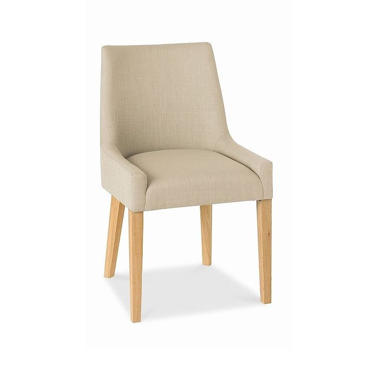 Alex Stone Upholstered Dining Chair With Oak Legs