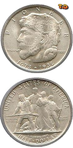 N♡T. ½ Dollar Elgin, Ill., Centennial Country United States Year 1936 Value Half Dollar 0.50 USD = 0.45 EUR Metal Silver (.900) Weight 12.5 g Diameter 30.6 mm