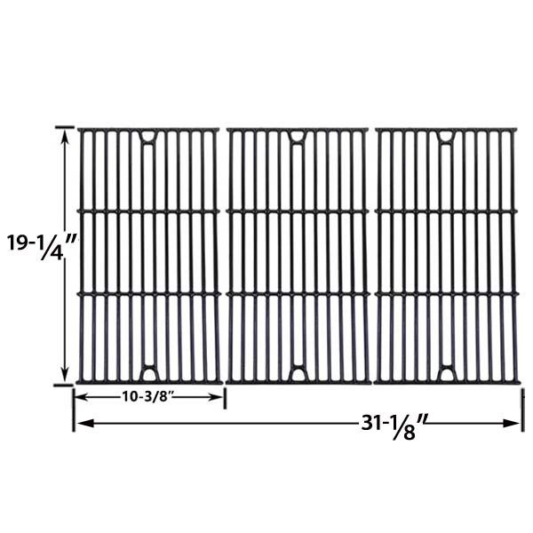 3 PACK GLOSS CAST IRON COOKING GRID REPLACEMENT FOR GLEN CANYON, CHARMGLOW 720-0234, 720-0289, 720-0396, 720-0536, 720-0578, 810-850-F, 810-8500-S AND JENN-AIR 720-0337, 720-0512 GAS GRILL MODELS Fits Compatible Glen Canyon Models : 720-0026-LP Glen Canyon , 720-0104-NG Glen Canyon , 720-0152-LP Glen Canyon Read More @http://www.grillpartszone.com/shopexd.asp?id=34002&sid=34535